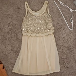 Blush Sequin bodice dress